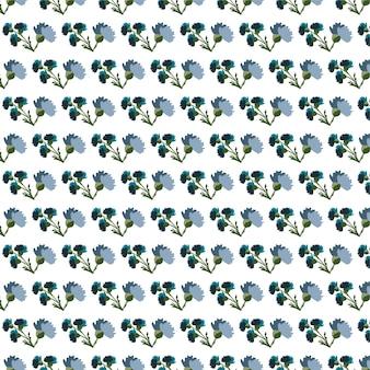 Blauw lentebloemen naadloos patroonbehang