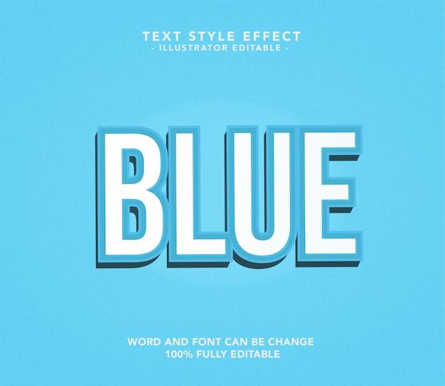 Blauw lettertype