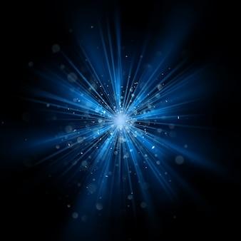 Blauw licht burst-effect.