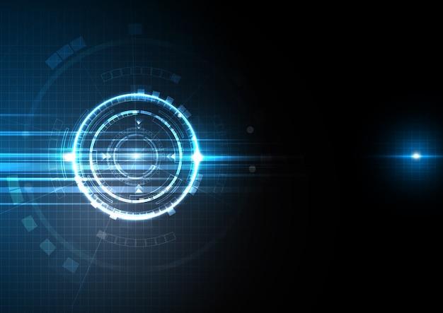 Blauw licht digitale technologie ontwerp achtergrond