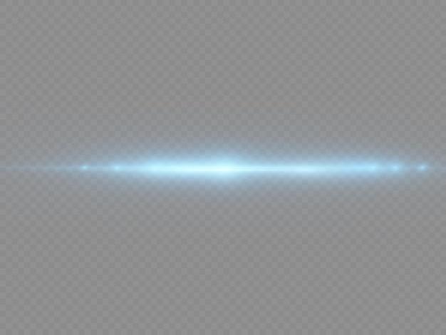 Blauw licht flare verdelers laserstralen horizontale lichtstralen gloeiende strepen blauwe lens flares pack