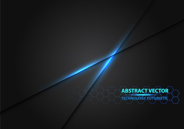 Blauw licht lijn macht zwarte schaduw luxe achtergrond