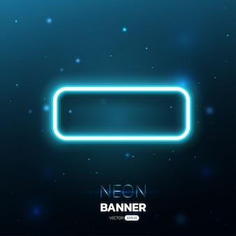 Blauw licht neon banner ontwerp