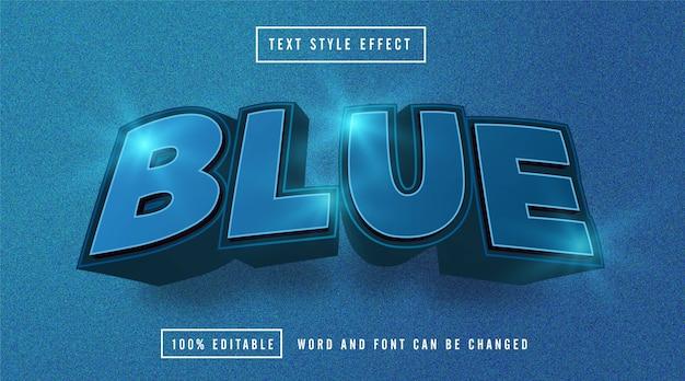 Blauw licht teksteffect bewerkbaar