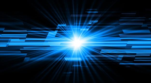 Blauw licht zoom abstract