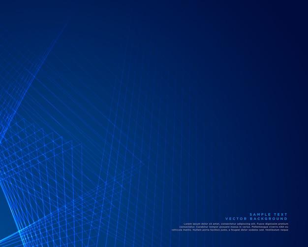Blauw lijnen vectorontwerp als achtergrond