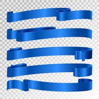 Blauw lint geïsoleerd op transparante achtergrond
