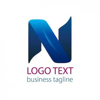 Blauw lint lettern n logo