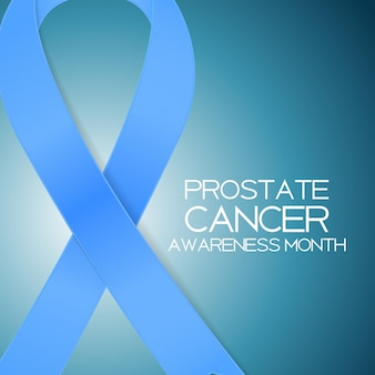Blauw lint symbool van world prostate cancer awareness day conce
