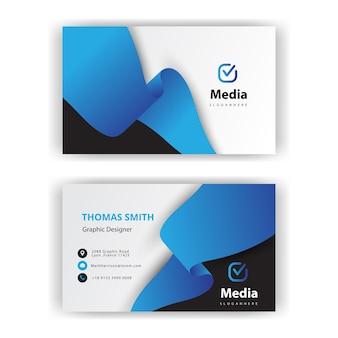 Blauw lint visitekaartje
