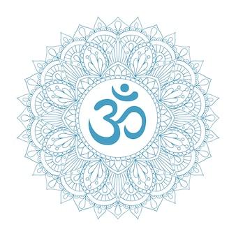 Blauw mandala-ornament