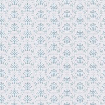 Blauw naadloos behangpatroon