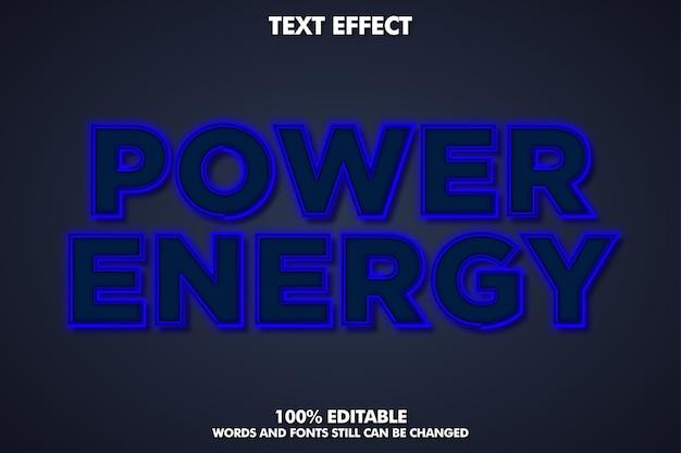 Blauw neonlicht teksteffect