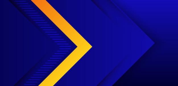 Blauw oranje gradiënt abstracte achtergrond en laagelement.
