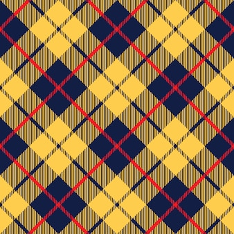 Blauw oranje tartan stof textuur diagonaal kleine patroon naadloos