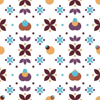 Blauw paars eenvoudig bloemenmensen naadloos patroon