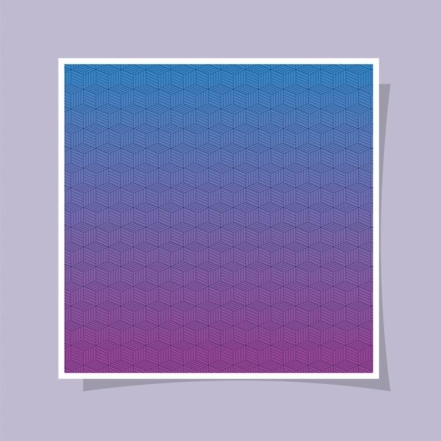 Blauw paars kleurverloop en patroon achtergrond, cover ontwerp.