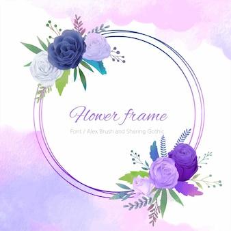 Blauw paars roze frame.