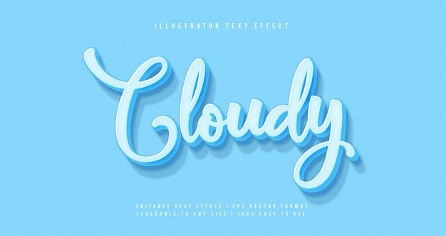 Blauw pastel tekststijl lettertype-effect
