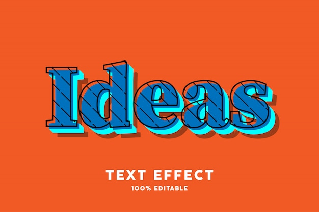 Blauw pop-art op oranje teksteffect