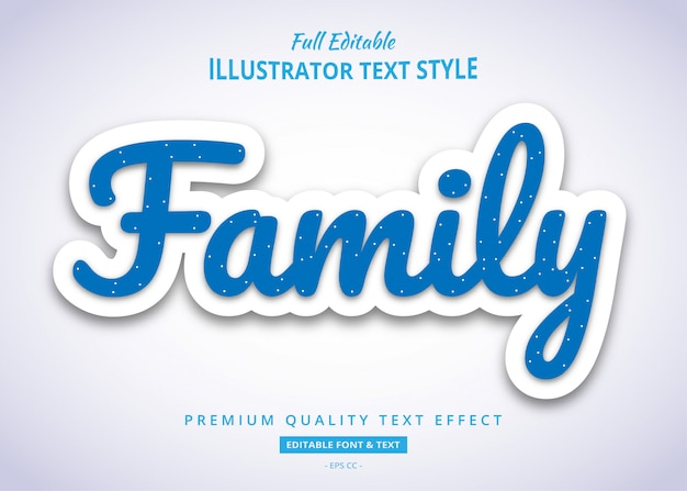 Blauw pop-up teksteffect