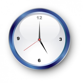 Blauw ronde klok