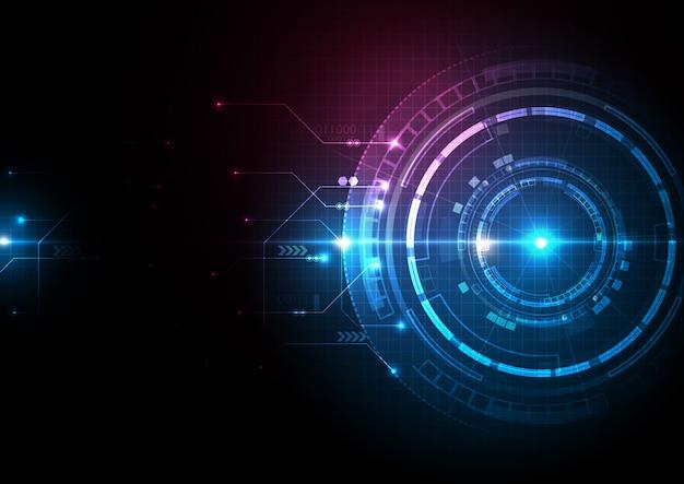 Blauw roze donkere digitale technologie achtergrond