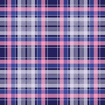 Blauw roze geruit pixel naadloos patroon
