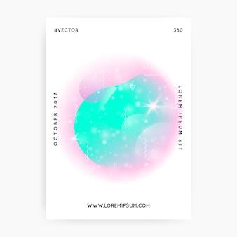 Blauw roze holografische achtergrond