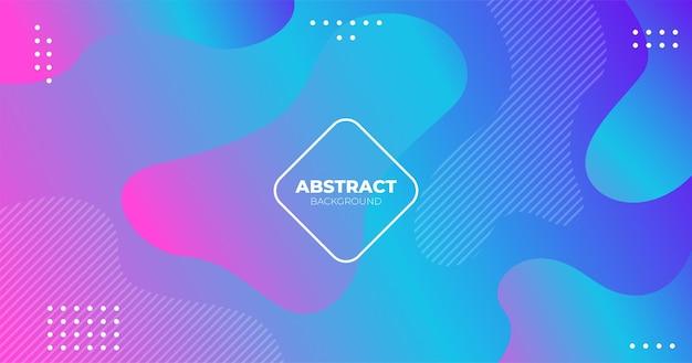 Blauw roze moderne abstracte vloeibare vloeistof gradiënt