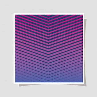 Blauw roze verloop en gestreepte achtergrond, cover ontwerp.