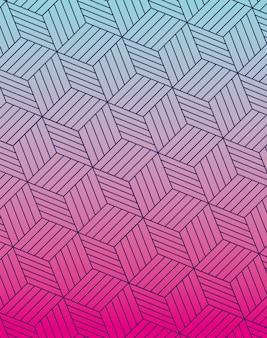 Blauw roze verloop en patroon achtergrond, cover ontwerp.