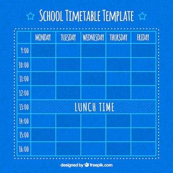 Blauw schooltijdschema