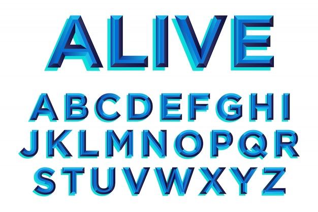 Blauw schuine typografieontwerp