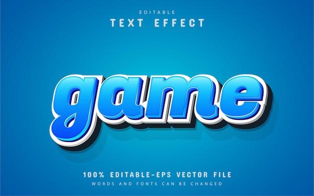 Blauw spel teksteffect
