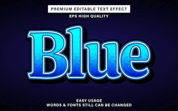 Blauw stijl teksteffect
