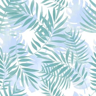 Blauw tak naadloos patroon