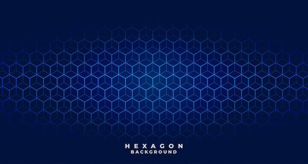 Blauw tech zeshoekig patroonontwerp