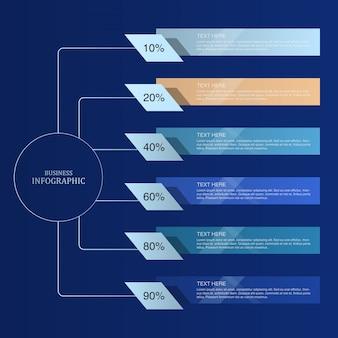 Blauw thema infographic