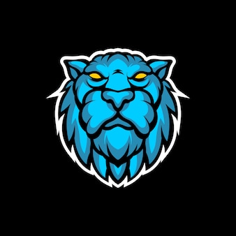Blauw tijgerhoofd