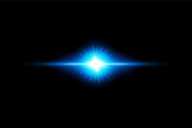 Blauw transparant licht lens flares ontwerp eps