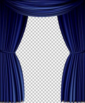 Blauw vectorgordijn