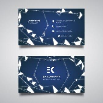 Blauw veelhoekige visitekaartje