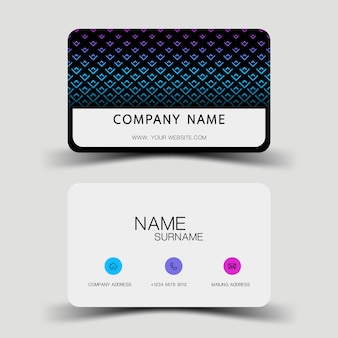 Blauw verloop visitekaartje ontwerp.