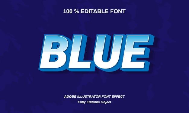 Blauw vet lettertype effect