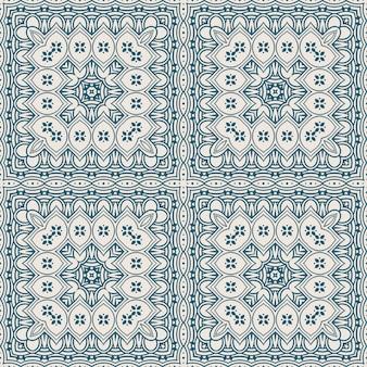 Blauw vierkant patroon