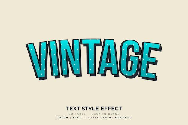 Blauw vintage tekststijleffect met sprankelingstextuur