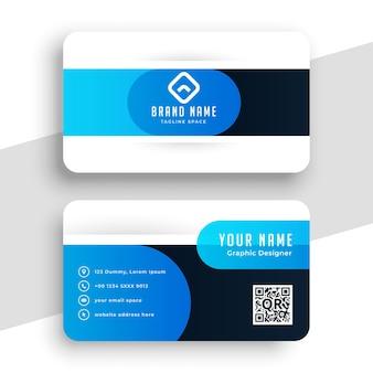 Blauw visitekaartje in curve-stijl