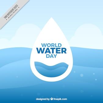 Blauw water werelddag golven achtergrond
