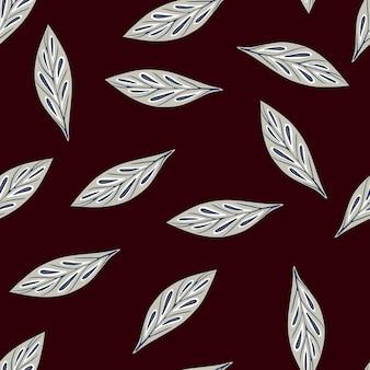 Blauw willekeurig geometrisch blad naadloos patroon in contrastkleuren